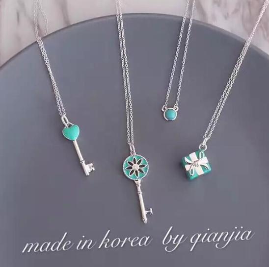 Tiffany&co.bracelet fashion bangle new earring lady tiffany neacklace gift box  11