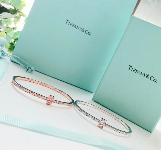 Tiffany&co.bracelet fashion bangle new earring lady tiffany neacklace gift box  16