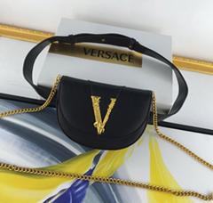 Versace VIRTUS BELT BAG woman clutch saddle bag phone pouch shoulder bag