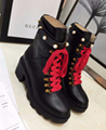 GUCCI embroidered leather ankle boot with belt gucci booties leather shoes