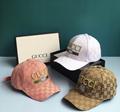 Gucci Print leather baseball hat GG cap Gucci Baseball hat with LA Angels™ patch