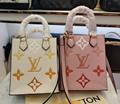 LV OnTheGo GM tote bag colored monogram lv handbag giant canvas LV bag