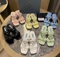 Prada sandal lady fashion high heels flats prada slipper stylish sneaker new
