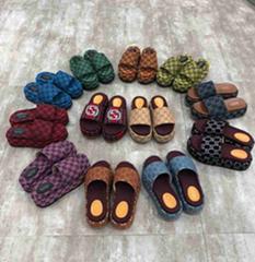 logo rubber slide sandal Princetown leather       slipper thong flip flop