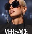 Versace sunglasses matte black tribute visor signature medusa sunglasses
