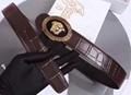 VERSACE BELT PALAZZO CALF LEATHER BELTS MEN FASHION STRAP ORIGIANL GIFT BOX