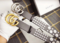Original Gucci belt real leather pearl GG buckle Gucci girdle woman waistband