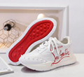 Real leather Christian Louboutin man sport shoes CL sneaker sandal red bottom