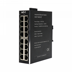 Unmanaged Industrial Switch + 16 Network ports + 10M / 100Mbps