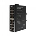 Wide TEMP Industrial Ethernet Switch + 16 Network ports + 10M / 100Mbp 1