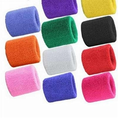 1 PCs wrist Sweatband tennis Sport Wristband  Volleyball Gym Doll Support sweat