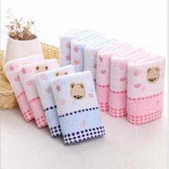 25 * 50cm high quality cotton towel for baby bear cartoon cloth napkin for baby