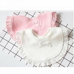 Fashion new born cotton drawstring baby bibs Slabbetjes cute girls and kids Burp