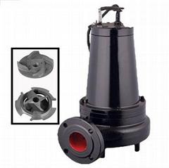 沁泉 WQ高效無堵塞雙絞刀切割式潛水排污泵