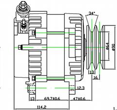 JFZ1906 car alternator 14 voltage  car alternator output 120A