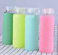 Anti-slip heat resistant sports water bottle, borosilicate glass bottle silicone 1