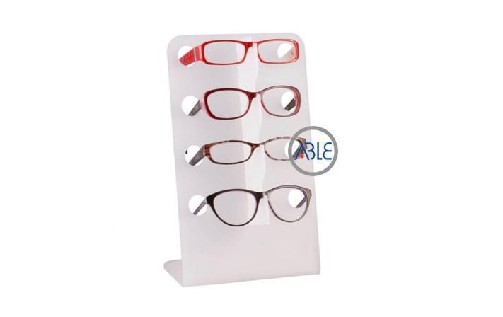Customized countertop white acrylic sunglasses display rack 1