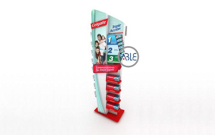 Custom Acrylic Display Rack for Toothbrush and Toothpaste 2