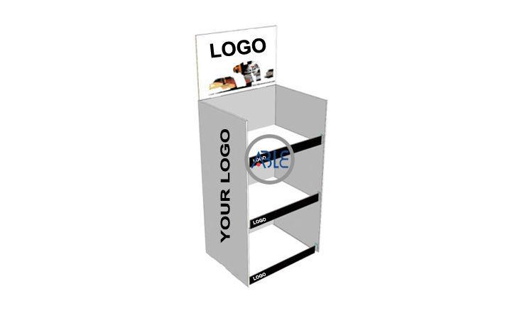 Custom design retail floor standing acrylic display rack 1