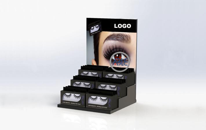 Step Style Custom Acrylic Eyelash Display Stand 1
