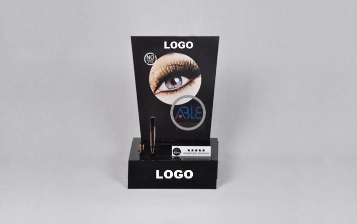 Counter Acrylic Eyelash Enhancer Cosmetics Display Shelf  1