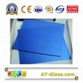 4mm 5mm Dark blue Reflective float glass