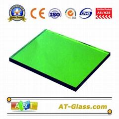 4mm 8mm Dark green Reflective glass Curtain wall coated glass