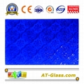 4mm  Blue Flora Patterned Glass for window furniture door  1