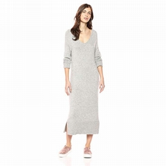 Women Custom Cashmere Wool Knit Long Sweater Dress