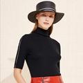 Women Relax-fit High Collar Wool Short