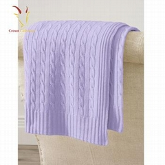 New style Kids Bright Colors Warm Cable Throw Blankets