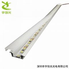 LED超薄2公分嵌入式帶邊開槽層板櫥櫃燈帶