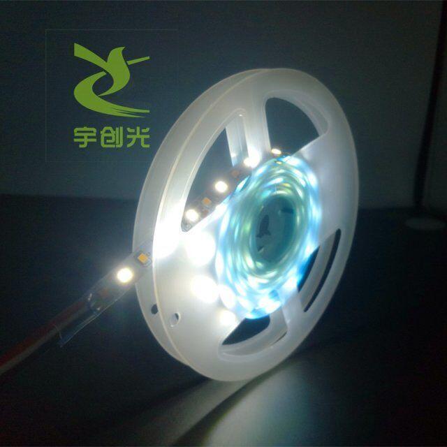 2835軟燈條雙色溫120珠燈鏡觸摸變色燈條可定製長度 2