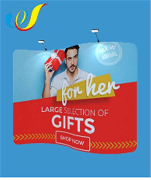 China factory price cheap hot sale Curved Tension Fabric Display Pop Up Banners 1
