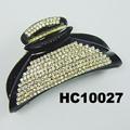fashion clear crystal rhinestone plastic hair claw clips in stock 3