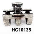 fashion clear crystal rhinestone plastic hair claw clips in stock 4