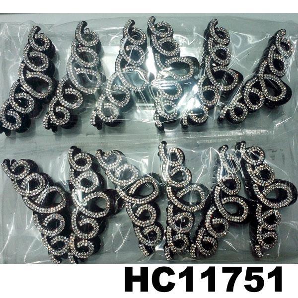 fashion clear crystal rhinestone plastic hair claw clips in stock 9