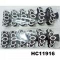 fashion clear crystal rhinestone plastic hair claw clips in stock 11