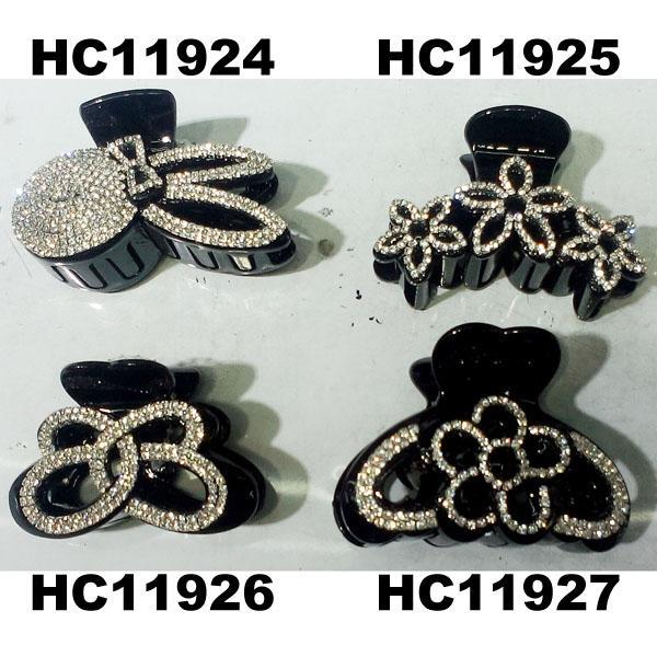 fashion clear crystal rhinestone plastic hair claw clips in stock 13