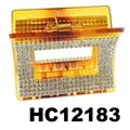 fashion clear crystal rhinestone plastic hair claw clips in stock 15