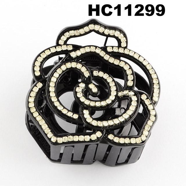 fashion clear crystal rhinestone plastic hair claw clips in stock 17