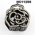 fashion clear crystal rhinestone plastic hair claw clips in stock