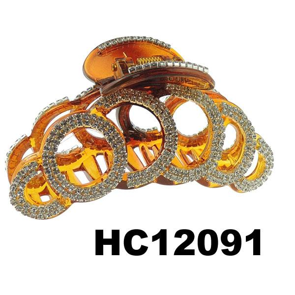 ladies elegant crystal stone plastic hair claw clips wholesale 1