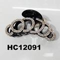 ladies elegant crystal stone plastic hair claw clips wholesale 2