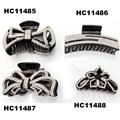ladies elegant crystal stone plastic hair claw clips wholesale 5