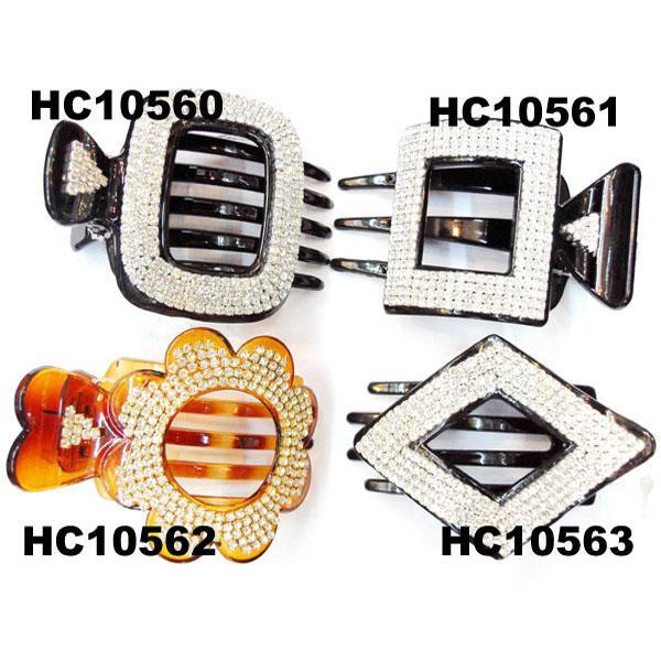ladies elegant crystal stone plastic hair claw clips wholesale 6