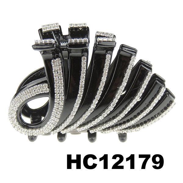 ladies elegant crystal stone plastic hair claw clips wholesale 19