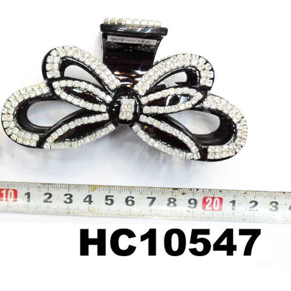 wholesale fashion women flower crystal stone plastic hair clips
