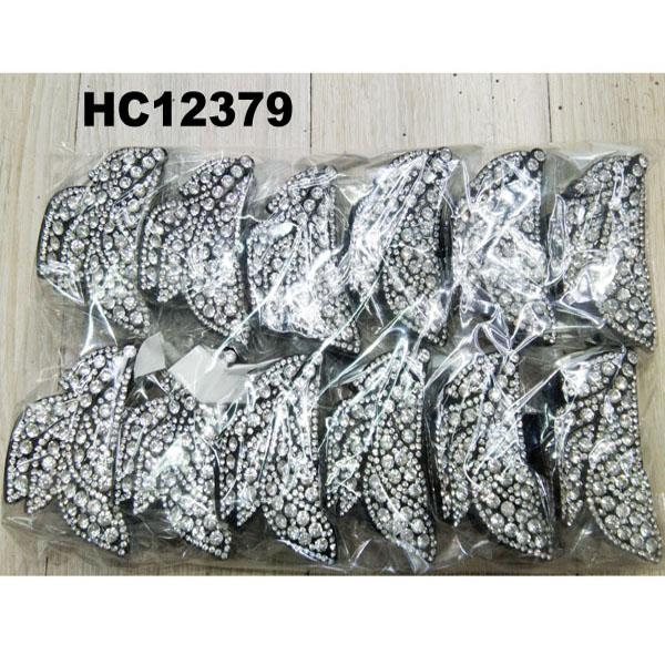 wholesale women colored crystal stone leaf design plastic hair claw clips 12