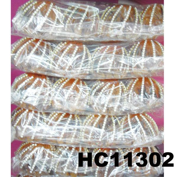 wholesale fashion colored crystal stone flower pumpkin round plastic hair clips 4